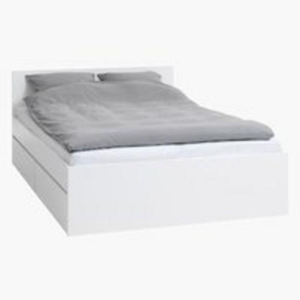 Bed frame LIMFJORDEN KNG white offer at £215