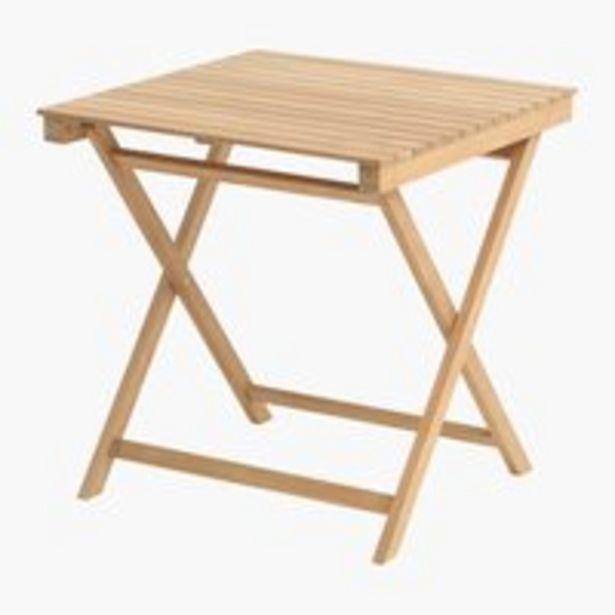 Folding table VESTERHAVET W70xL70 teak offer at £149.99