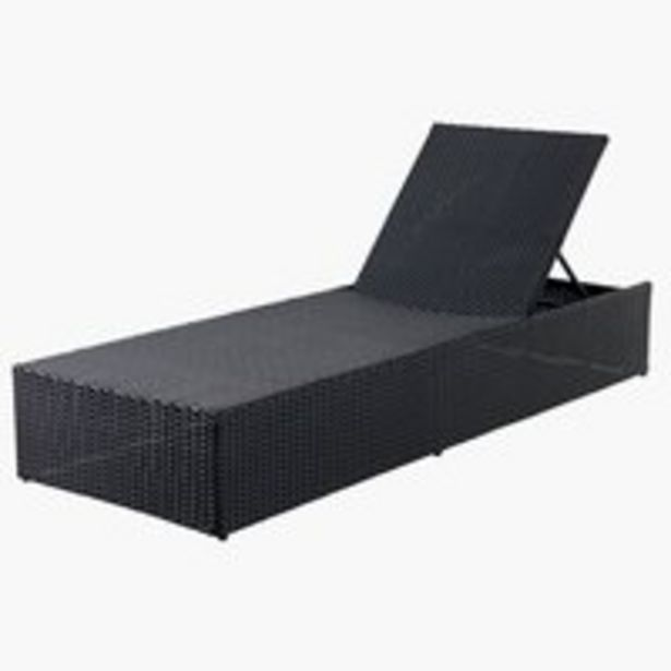 Sun lounger HASLE W70xL198 black offer at £169.99
