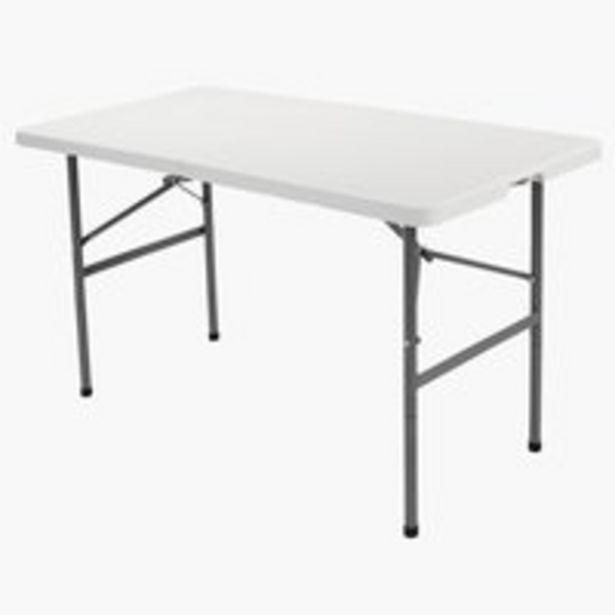 Folding table HOLMEN W60xL121 white offer at £35