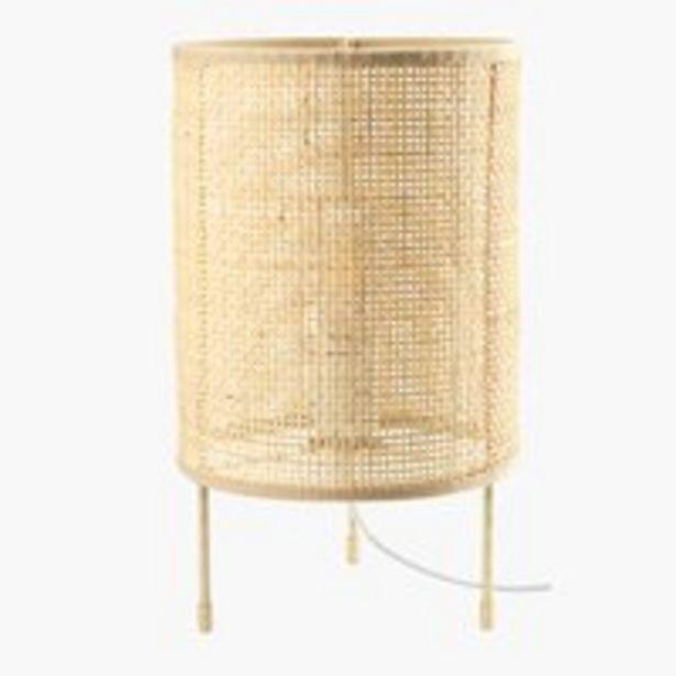 Table lamp ALBERT D19xH31cm rattan offer at £22.99