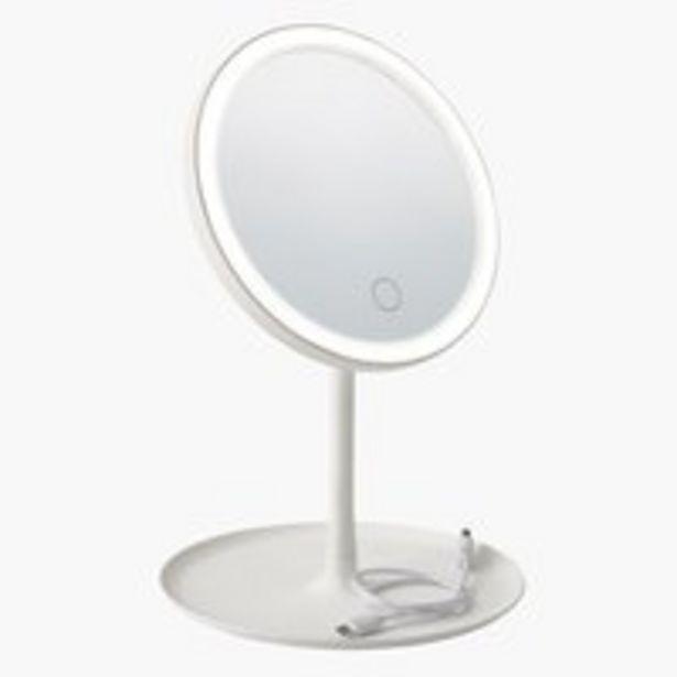LED mirror VEDUM D18xH28cm white offer at £8.5