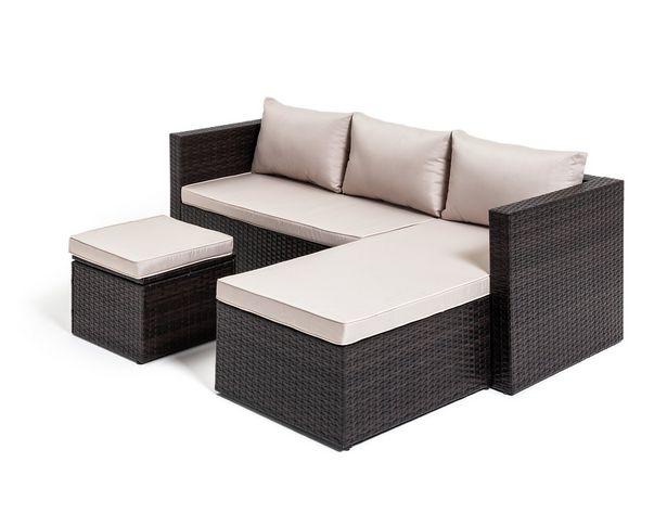 Habitat Mini Corner Sofa Set with Storage - Brown offer at £300