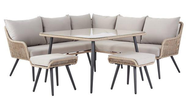 Argos Home Malta 6 Seater Steel Corner Sofa Set offer at £750
