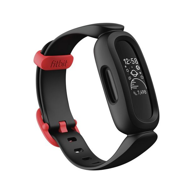 Fitbit Ace 3 Kids Activity Tracker - Black / Red offer at £69.99