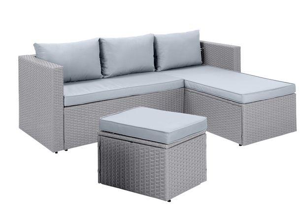 Habitat Mini Corner Sofa Set with Storage - Grey offer at £240