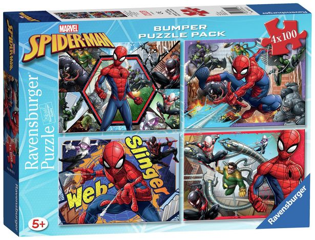 Marvel Spider-Man 4 x 100pc Puzzles offer at £8