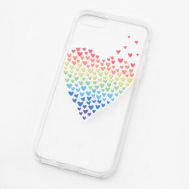 Rainbow Hearts Clear Phone Case - Fits iPhone® 6/7/8/SE offer at £2.25