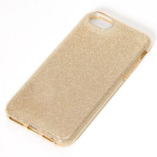Gold Glitter Protective Phone Case - Fits iPhone 6/7/8/SE offer at £2.25