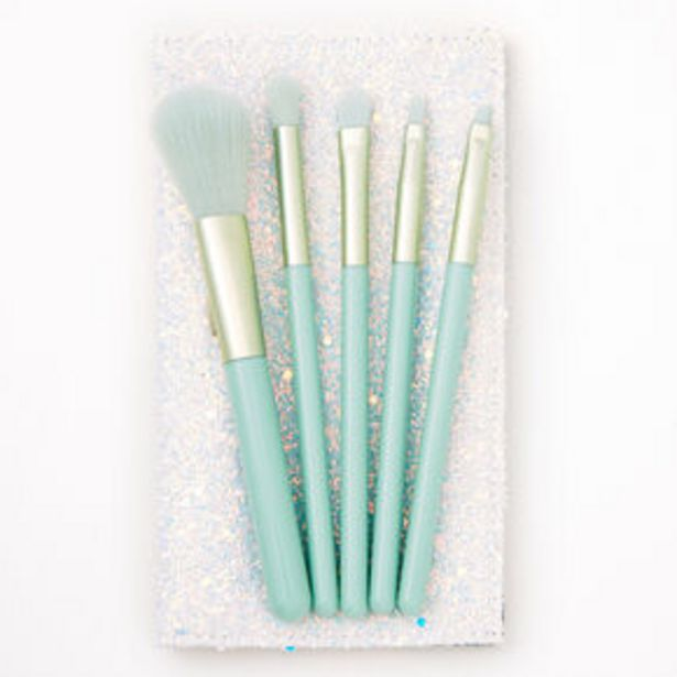 Mint Green Makeup Brush Set - 5 Pack offer at £4.5