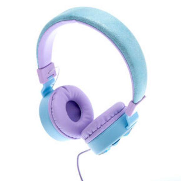 Snowflake Bling Headphones - Blue offer at £13.5