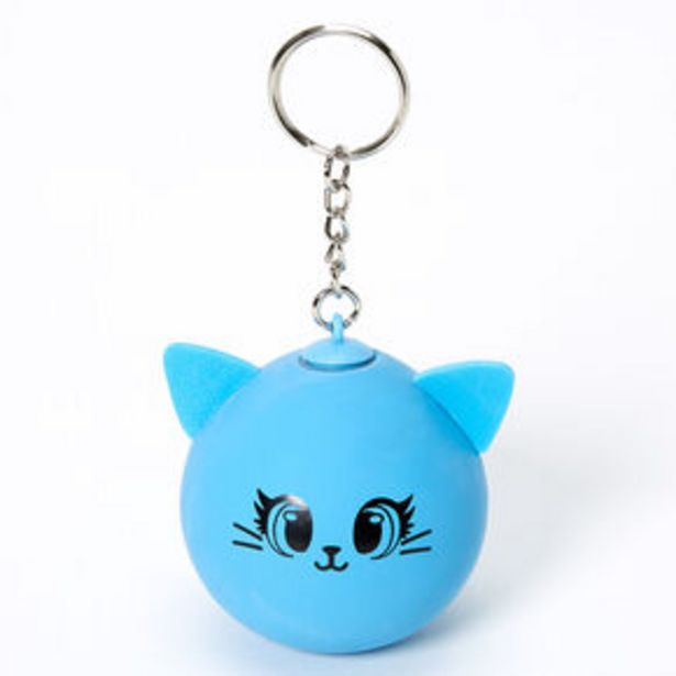 Cat Stress Ball Keychain - Blue offer at £3.6