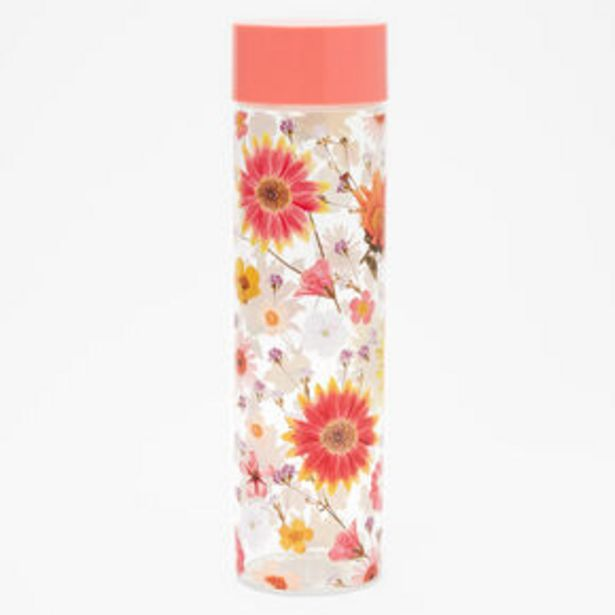 Pressed Flower Water Bottle - Coral offer at £10.8