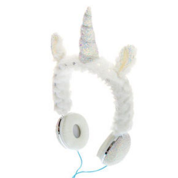 Glitter Unicorn Headphones - White offer at £18