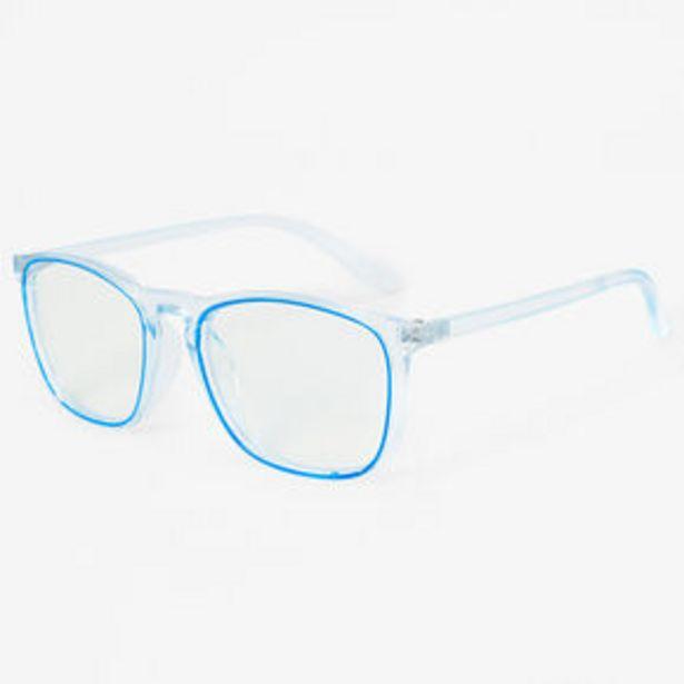 Retro Trim Clear Lens Frames - Blue offer at £7