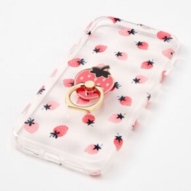Strawberry Ring Holder Protective Phone Case - Fits iPhone® XR offer at £2.25
