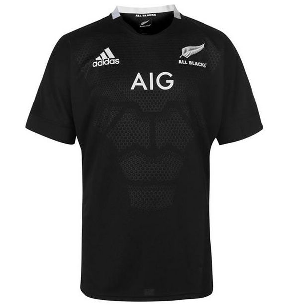 Adidas New Zealand All Blacks Home Rugby Shirt 2018 2019 offer at £56.99