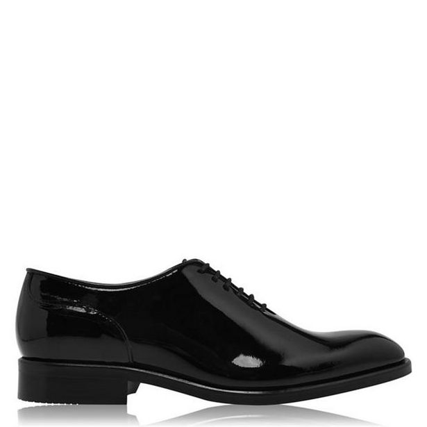 Reiss Bay Lace Up Patent Leather Shoes offer at £139