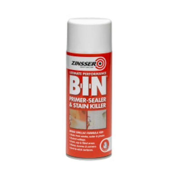 Zinsser B.I.N Primer Sealer Aerosol 400ml offer at £20