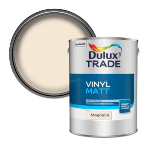 Dulux Trade Vinyl Matt Paint 5L Magnolia offer at £39.5