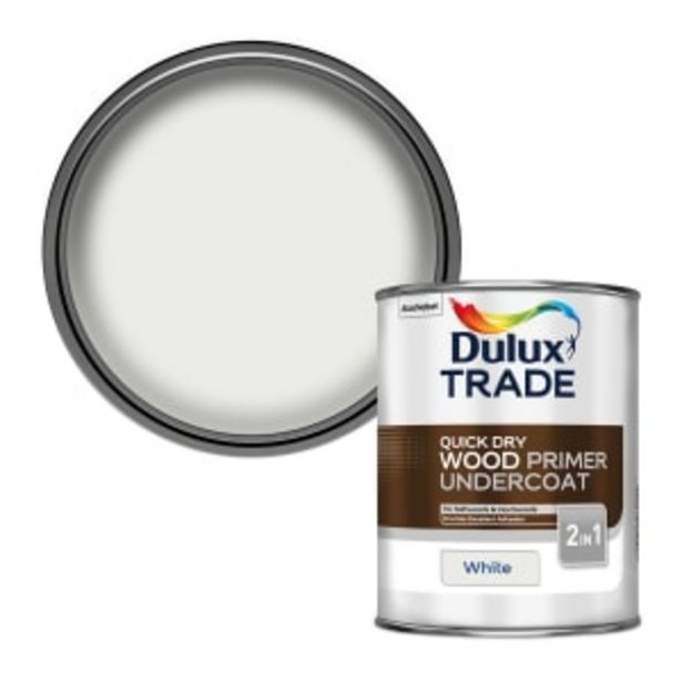 Dulux Trade Quick Dry Wood Primer Undercoat 1L White offer at £22.66