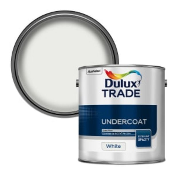 Dulux Trade Undercoat Paint 2.5L White offer at £29.03