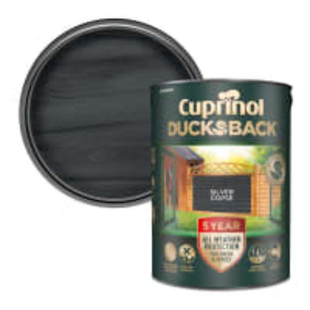 Cuprinol 5 Year Ducksback 5 Litre Silver Copse offer at £21.6