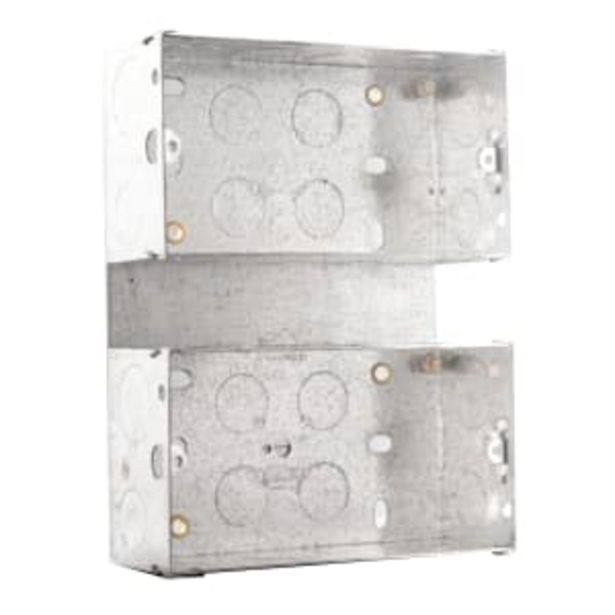 BG Electrical Steel Knockout Box 2 Gang 47mm Silver offer at £1.63
