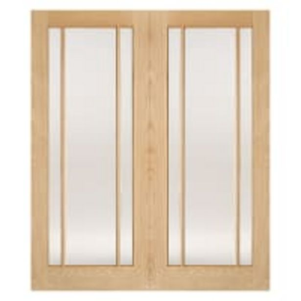 Lincoln Pairs Unfinished Oak Door 1219 x 1981mm offer at £451.76