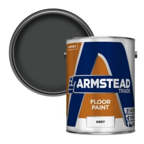 Armstead Trade Floor Paint 5L Grey offer at £51.26
