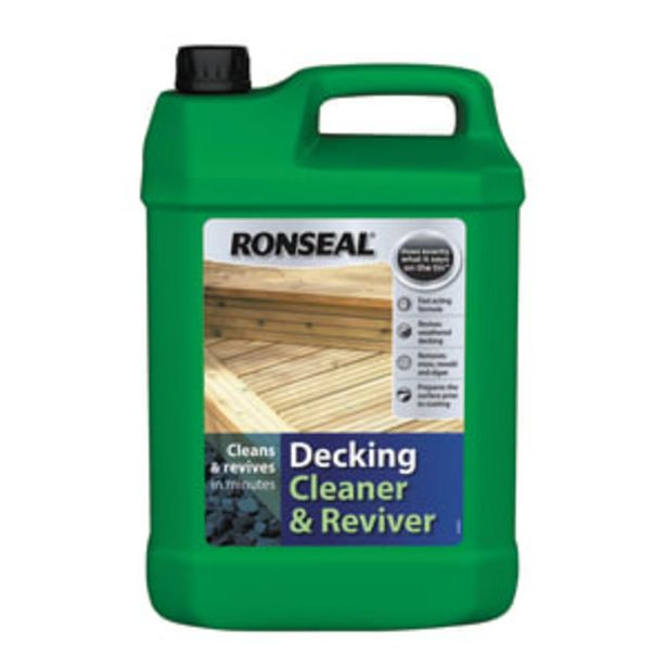 Ronseal Decking Cleaner and Reviver 5 Litres offer at £12