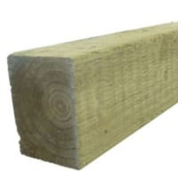 Treated Incised UC4 Fence Post Green 75 x 75 x 2400mm offer at £15.24