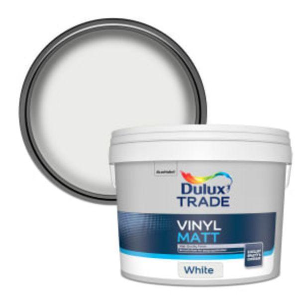 Dulux Trade Vinyl Matt Paint 10L White offer at £41.99