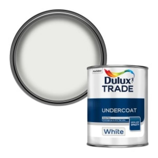 Dulux Trade Undercoat Paint 1L White offer at £15.44
