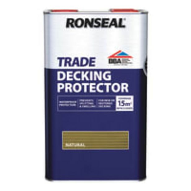 Ronseal Trade Decking Protector Natural 5L offer at £43.42