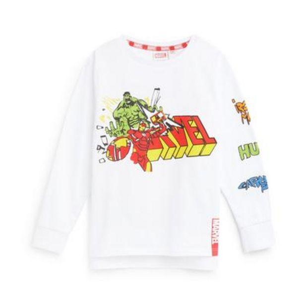 Younger Boy Marvel Logo Print Longsleeve T-Shirt offer at £6.5