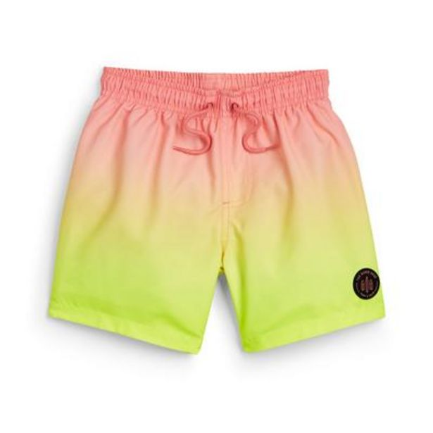 Younger Boy Coral Dip Dye Swim Shorts offer at £4