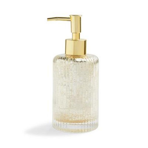 Clear Glass Mercury Print Soap Dispenser offer at £4