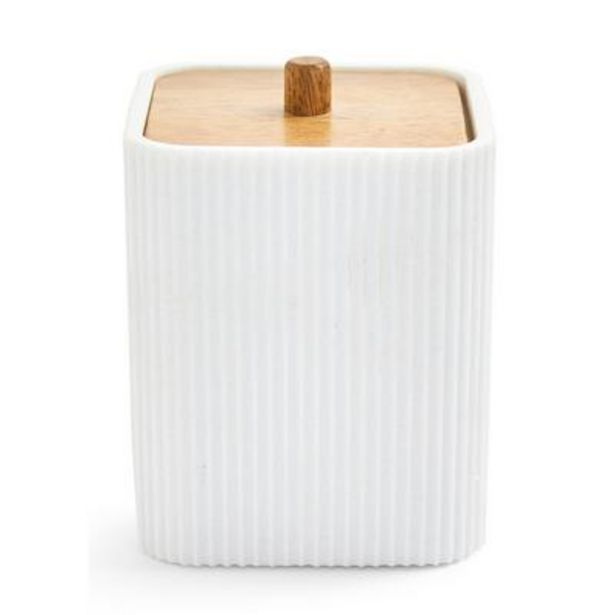 White Elevated Cotton Wool Holder offer at £6