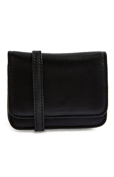 Premium Black Faux Leather Man Bag offer at £10