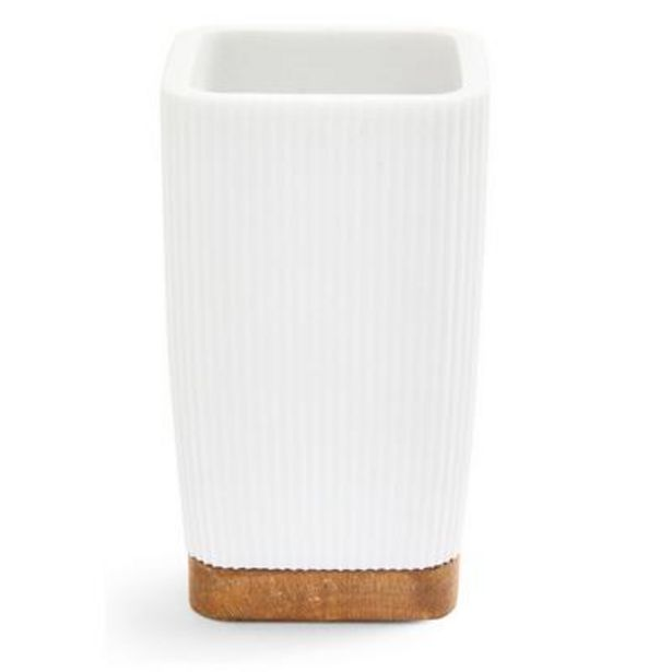 White Elevated Bathroom Tumbler offer at £3.5