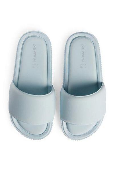 Blue Comfort Flatform Sliders offer at £7