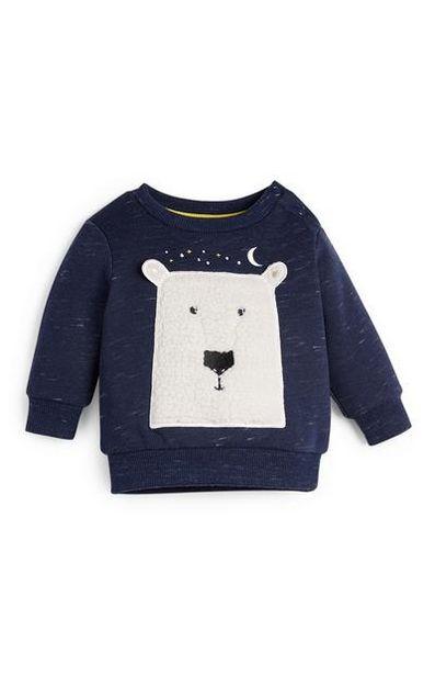 Baby Boy Polar Bear Crew Neck Sweater offer at £5
