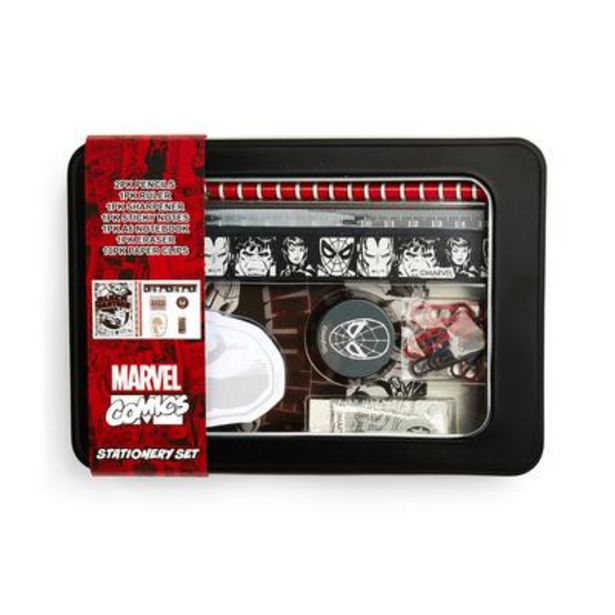 Marvel Stationery Tin offer at £4