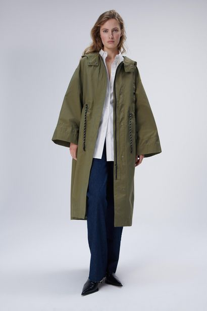 LONG PARKA WITH PHONE CASE offer at £89.99