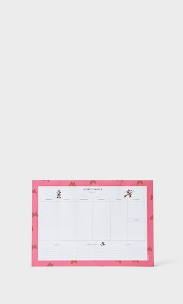 Minnie mouse weekly planner offer at £9.99