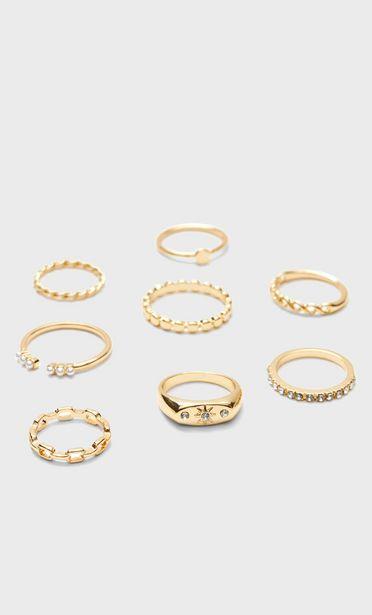Set of 8 sun rings offer at £6.99