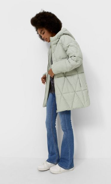 Geometric quilted coat offer at £49.99