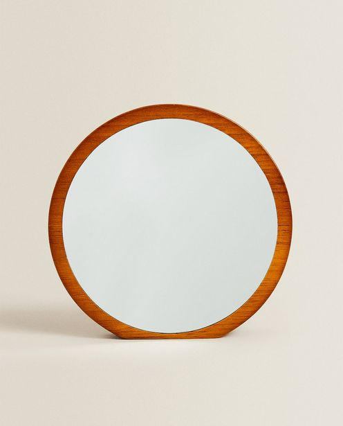 Round Mirror With Wooden Frame offer at £19.99