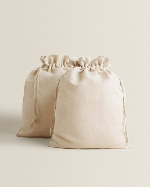 Cotton And Linen Storage Bag (Pack Of 2) offer at £15.99